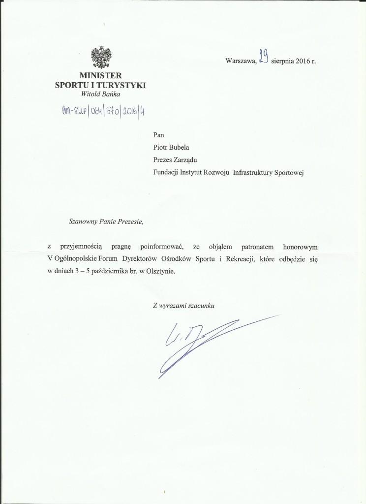 Patronat Ministra Sportu